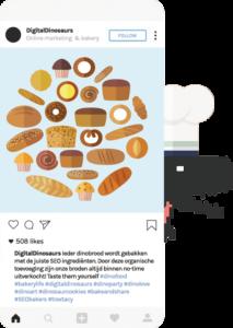 Instagram hastag onderzoek - Digital Dinosaurs