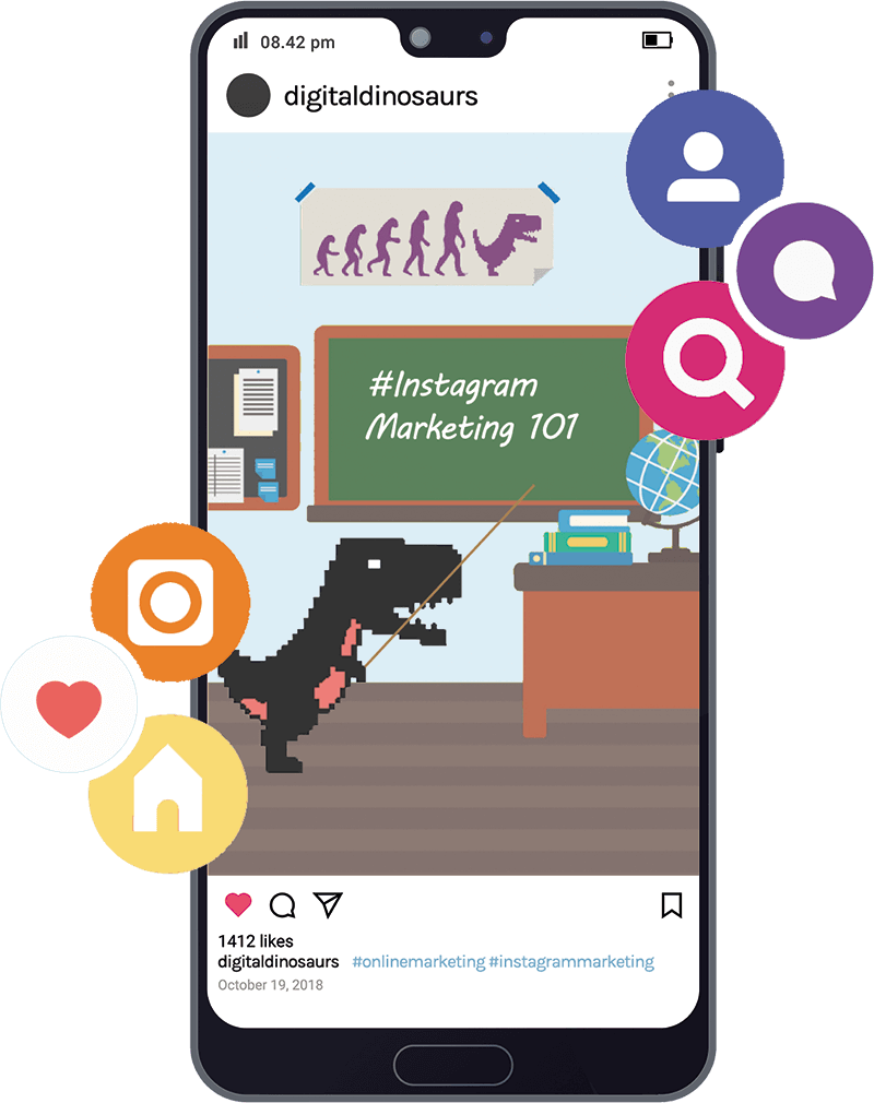 Instagram social media marketing - Digital Dinosaurs