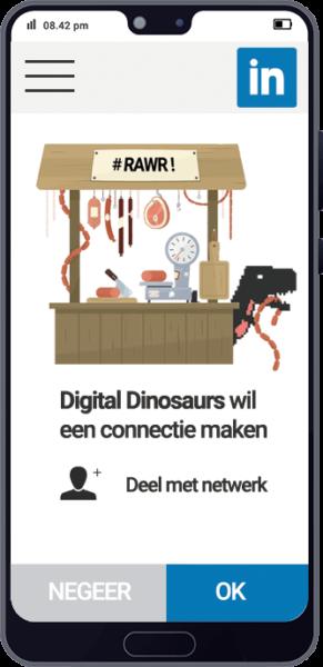 LinkedIn marketing- Digital Dinosaurs