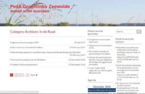 Blogpagina oude website groenlinks