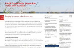 Homepagine oude website groenlinks