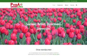 Nieuwe homepagina pvda groenlinks zeewolde
