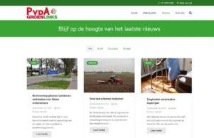 blogpagina nieuwe website pvda groenlinks