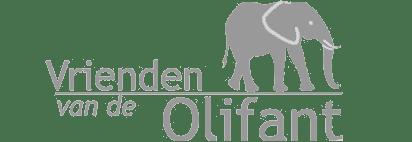 Logo Vrienden van de Olifant grijs